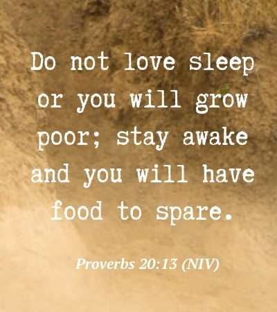 Bible Verse about Sleeping Too Much