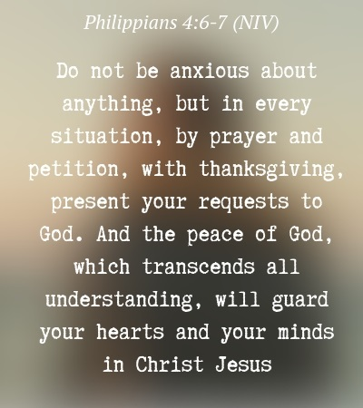 Short Prayer for Peace of Mind during stress