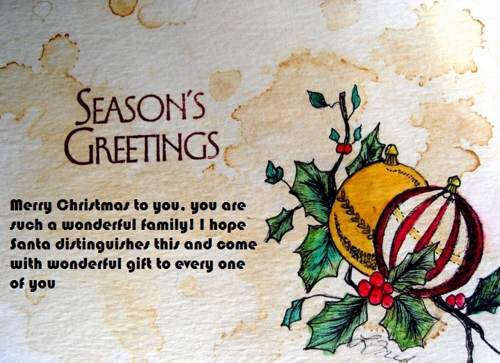 Christmas Card Messages For Family