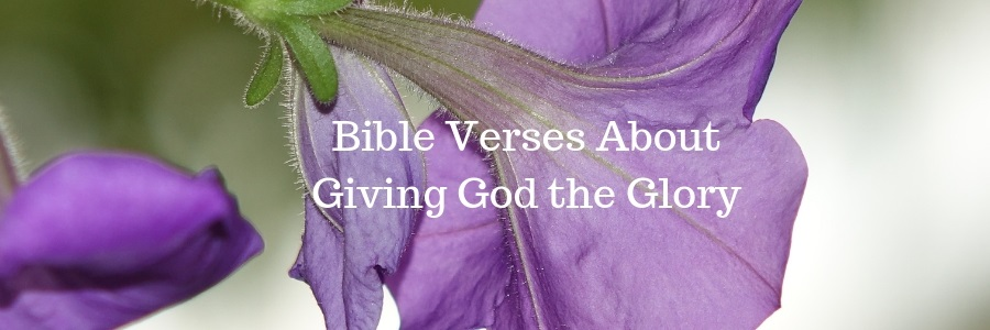 Bible Verses About Giving God the Glory